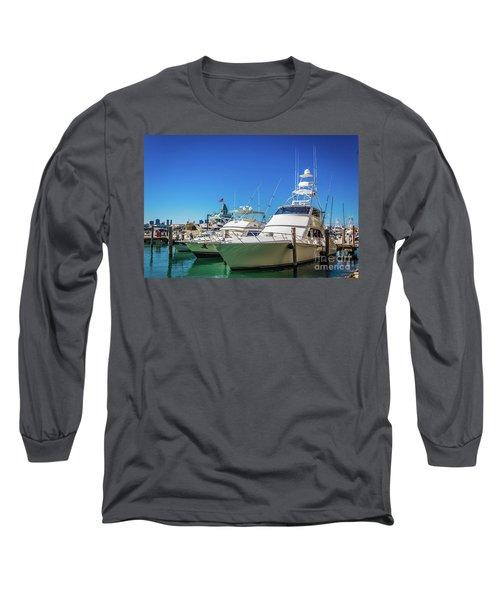 Miami Beach Marina 4528 Long Sleeve T-Shirt