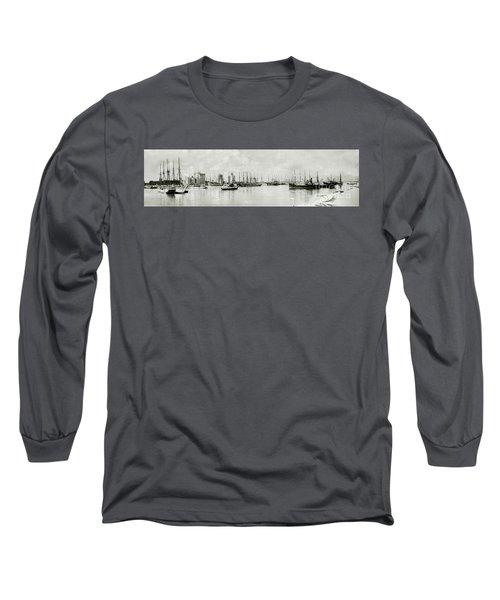 Miami, Florida Circa 1925  Long Sleeve T-Shirt by Jon Neidert