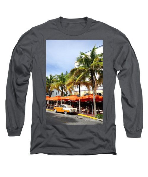 Miami South Beach Ocean Drive 8 Long Sleeve T-Shirt by Nina Prommer