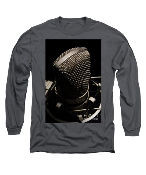 Long Sleeve T-Shirt featuring the photograph Mic by Brian Jones