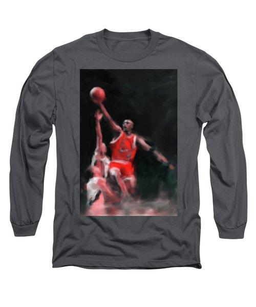 Michael Jordan 548 3 Long Sleeve T-Shirt by Mawra Tahreem