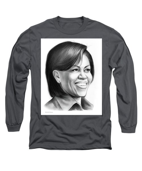 Michelle Obama Long Sleeve T-Shirt by Greg Joens