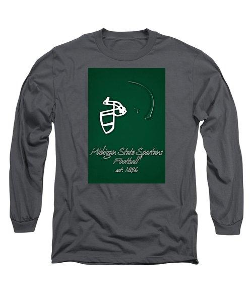 Michigan State Spartans Helmet Long Sleeve T-Shirt
