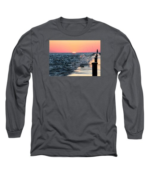 Michigan Summer Sunset Long Sleeve T-Shirt by Bruce Patrick Smith