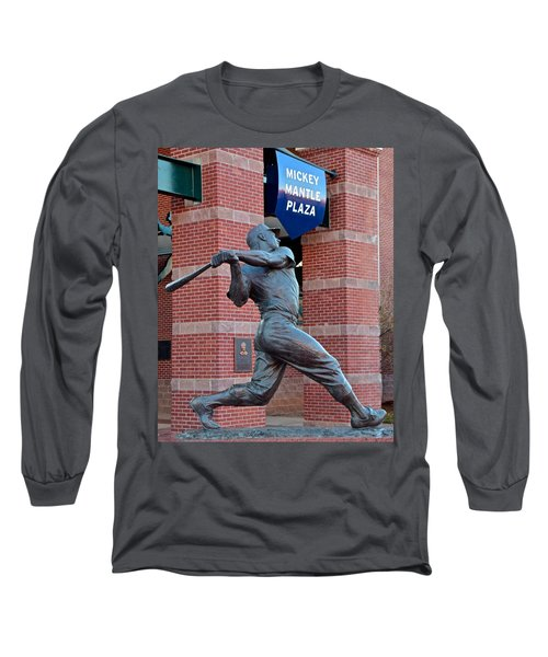 Mickey Mantle Long Sleeve T-Shirt by Frozen in Time Fine Art Photography