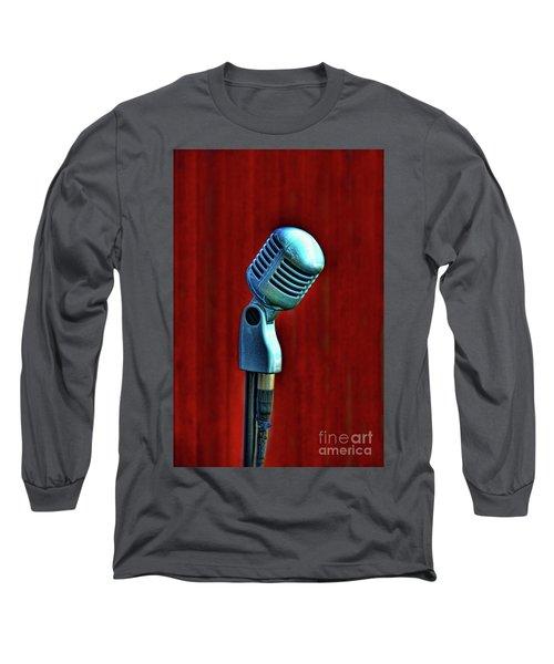 Microphone Long Sleeve T-Shirt by Jill Battaglia