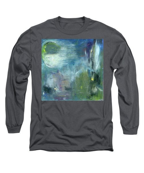 Long Sleeve T-Shirt featuring the painting Mid-day Reflection by Michal Mitak Mahgerefteh