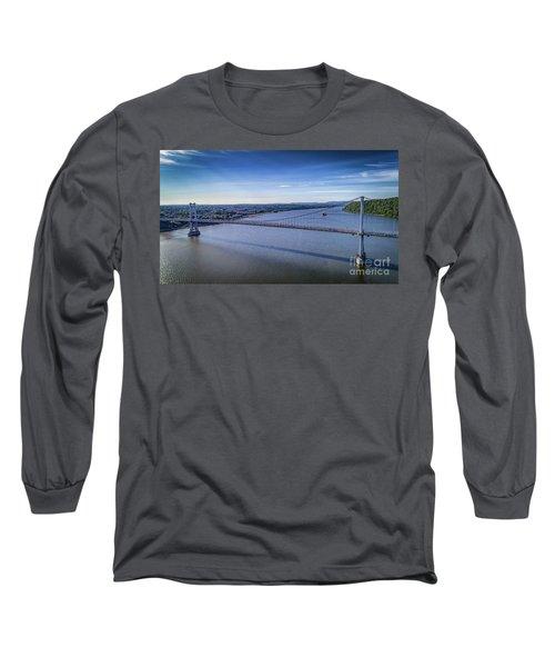 Mid-hudson Bridge In Spring Long Sleeve T-Shirt