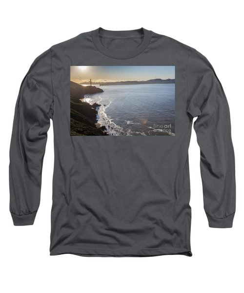 Mid Morning View Of The Downtown San Franscisco Over The Golden  Long Sleeve T-Shirt