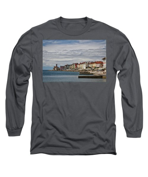 Long Sleeve T-Shirt featuring the photograph Midday In Piran - Slovenia by Stuart Litoff
