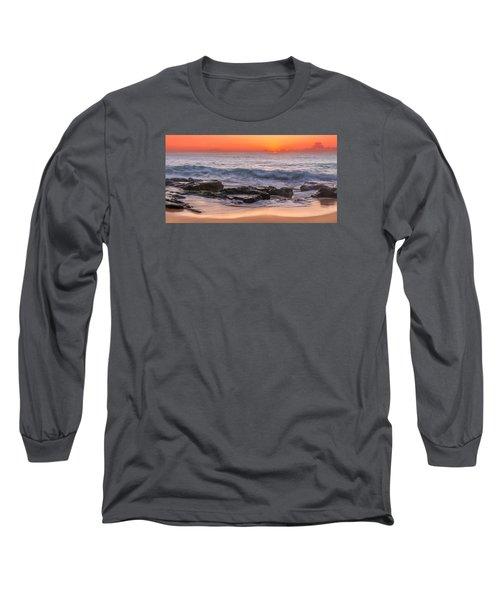 Middle Beach Sunrise Long Sleeve T-Shirt