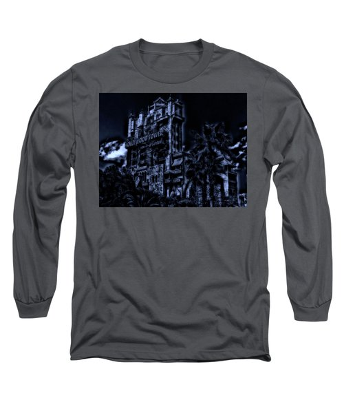 Midnight At The Tower Of Terror Mp Long Sleeve T-Shirt by Thomas Woolworth