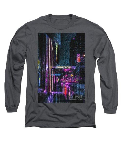 Midnight At Tiffany Painting Long Sleeve T-Shirt