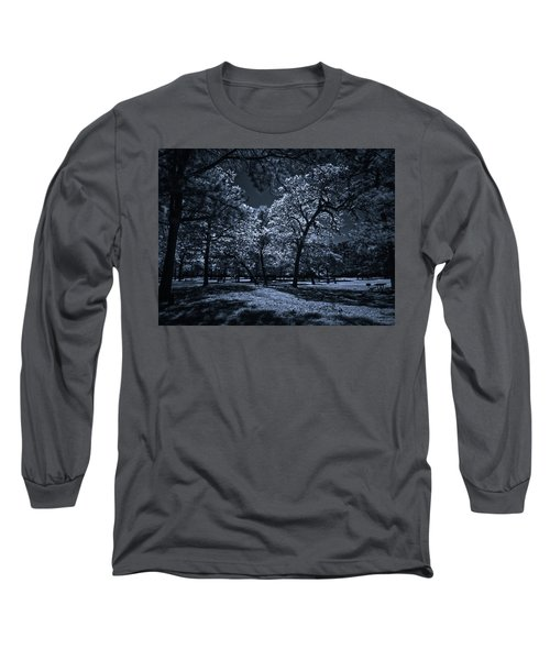 Long Sleeve T-Shirt featuring the photograph Midnight Blues by Linda Unger