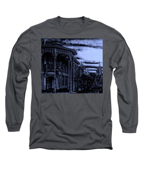 Midnight On Main Street Disney World Mp Long Sleeve T-Shirt by Thomas Woolworth