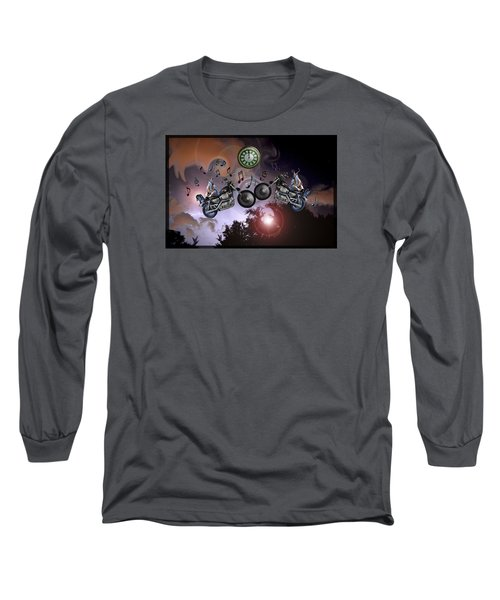 Midnight Rider Long Sleeve T-Shirt by Amanda Vouglas
