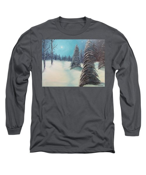 Midnight Silence Long Sleeve T-Shirt by Thomas Janos