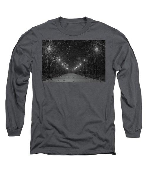 Midnight Snow Storm Long Sleeve T-Shirt