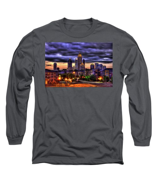Midtown Atlanta Towers Over Atlantic Commons Long Sleeve T-Shirt by Reid Callaway