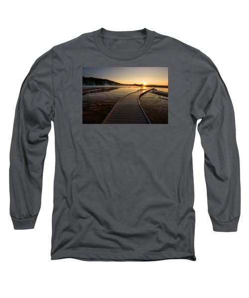 Midway Basin Sunset Long Sleeve T-Shirt by Dan Mihai