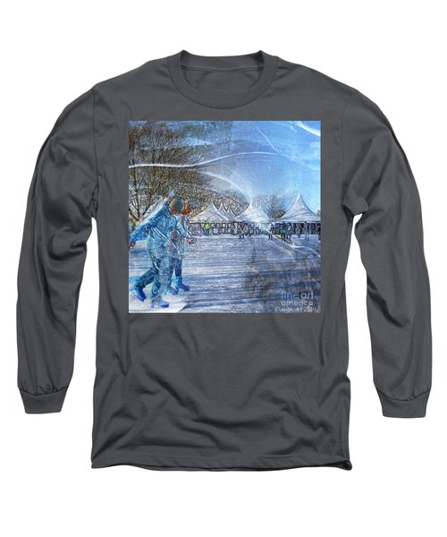 Midwinter Blues Long Sleeve T-Shirt by LemonArt Photography