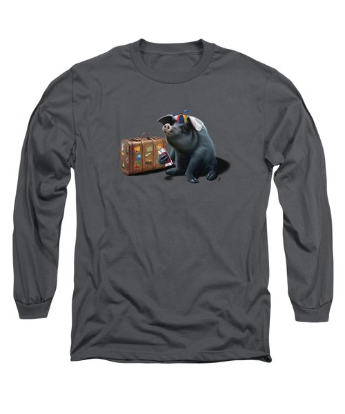 Might Wordless Long Sleeve T-Shirt