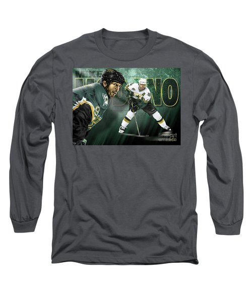 Long Sleeve T-Shirt featuring the digital art Mike Modano by Don Olea
