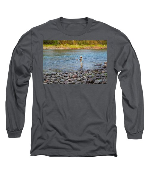 Mike's River-1 Long Sleeve T-Shirt by Alex Suescun