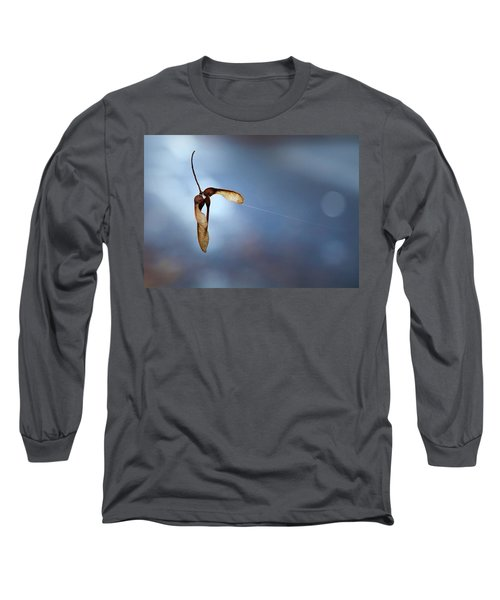 Long Sleeve T-Shirt featuring the photograph Miksang 3 Maple Seeds by Theresa Tahara