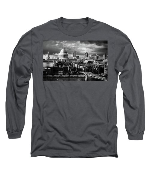 Milennium Bridge And St. Pauls, London Long Sleeve T-Shirt