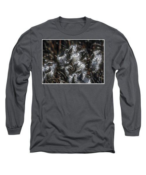 Milkweed Plant Dried Seeds  Long Sleeve T-Shirt