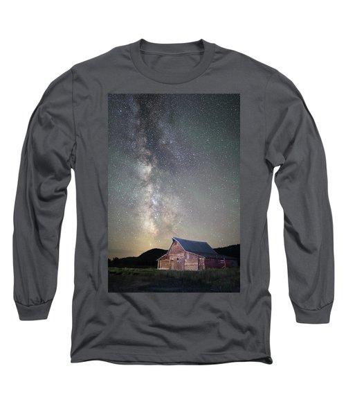 Milky Way And Barn Long Sleeve T-Shirt