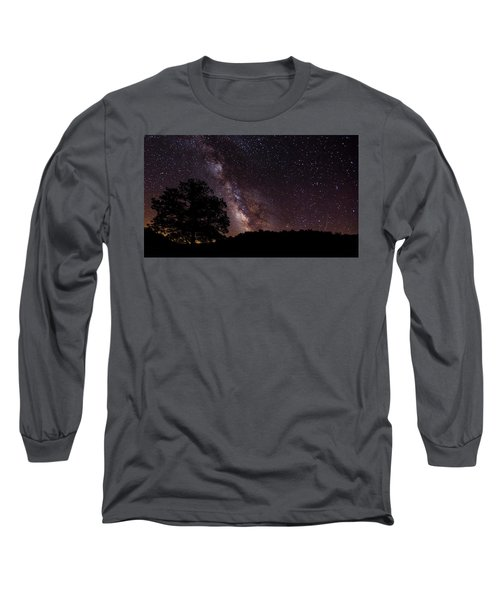 Milky Way And The Tree Long Sleeve T-Shirt