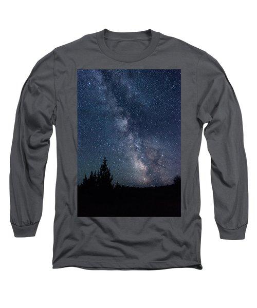 Milky Way At Eastern Oregon Wilderness Long Sleeve T-Shirt