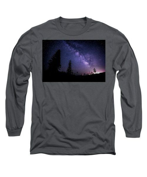 Milky Way At Powder Mountain Long Sleeve T-Shirt