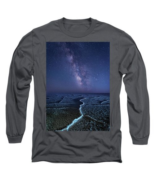 Milky Way At The Salt Flats Long Sleeve T-Shirt