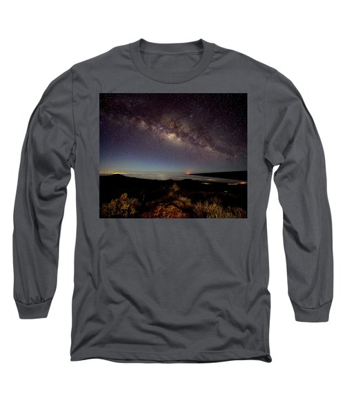 Milky Way From Mauna Kea Long Sleeve T-Shirt