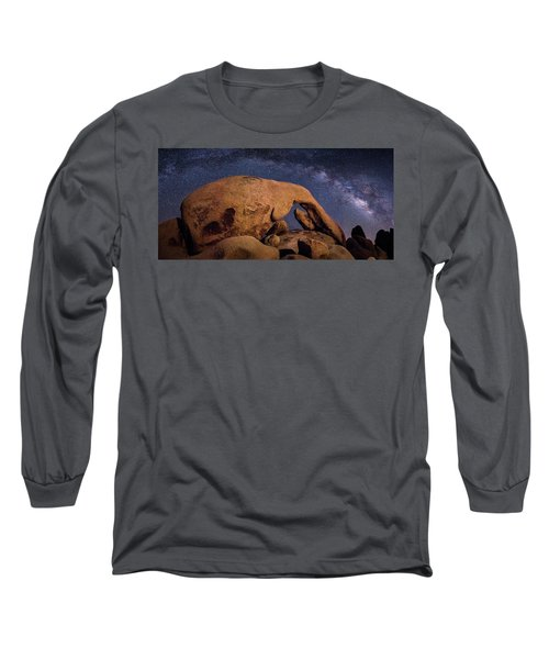 Milky Way Over Arch Rock Long Sleeve T-Shirt