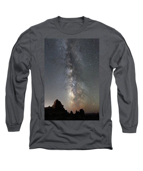 Milky Way Over Arches Np  One Long Sleeve T-Shirt