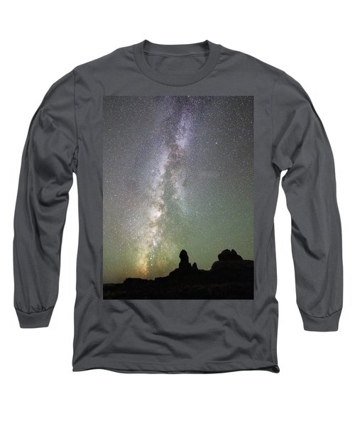 Milky Way Over Arches Np Four Long Sleeve T-Shirt