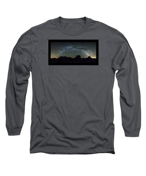 Milky Way Over Bell Long Sleeve T-Shirt