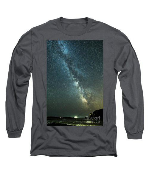 Milky Way Over Clams Flats Long Sleeve T-Shirt