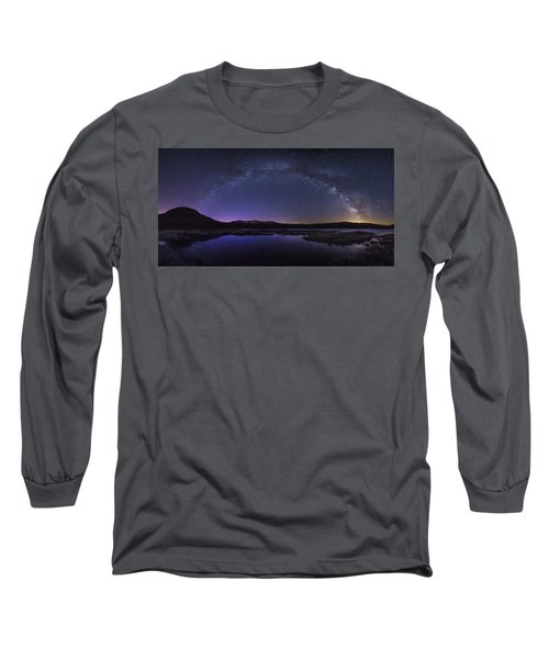 Milky Way Over Lonesome Lake Long Sleeve T-Shirt