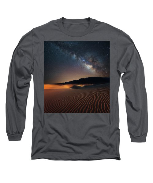 Long Sleeve T-Shirt featuring the photograph Milky Way Over Mesquite Dunes by Darren White
