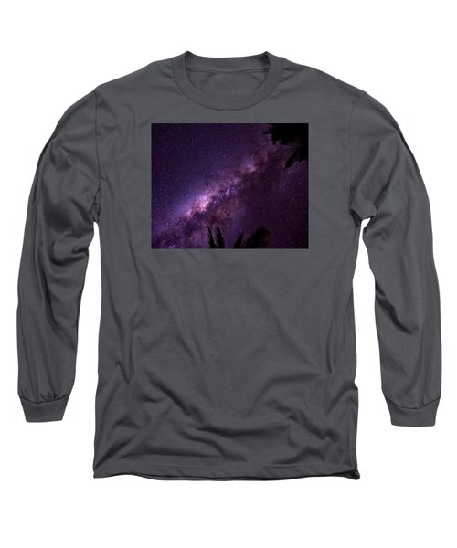 Milky Way Over Mission Beach Long Sleeve T-Shirt by Avian Resources