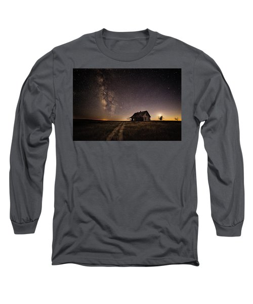 Milky Way Over Prairie House Long Sleeve T-Shirt