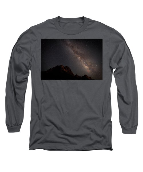 Milky Way Over Zion Long Sleeve T-Shirt