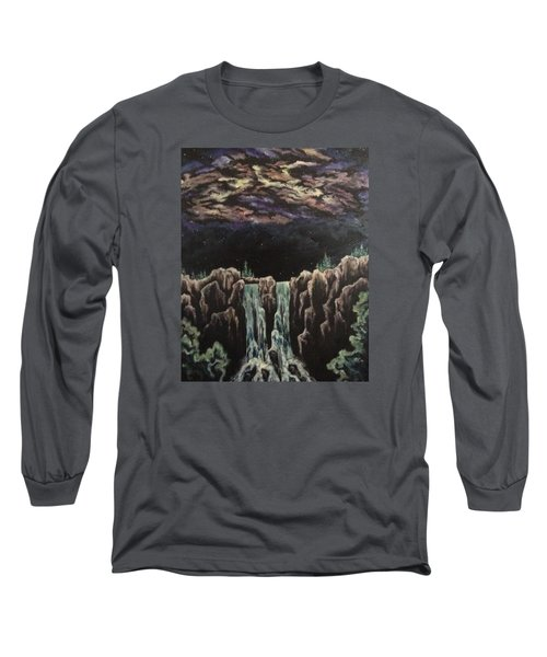 Long Sleeve T-Shirt featuring the painting Milkyway by Cheryl Pettigrew