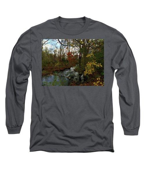Mill Creek, Sandwich Massachusetts Long Sleeve T-Shirt