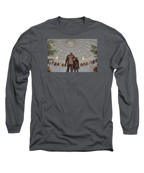 Long Sleeve T-Shirt featuring the photograph Milton Hershey And The Boy by Mark Dodd